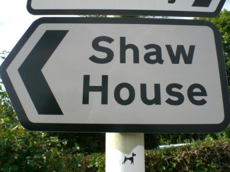 Shaw House signpost