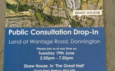 Public consultation on development of land west of  the Wantage Road announced for 19th June