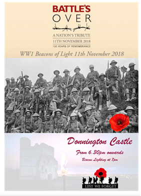 Join the Community on 11th November at Donnington Castle 6.30pm onwards