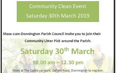 Community Clean event –  Saturday 30th March 2019