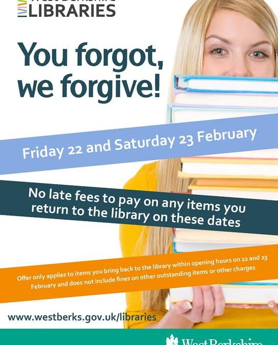 West Berkshire Libraries Fines Amnesty 22nd & 23rd February