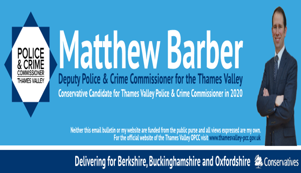 MATTHEW BARBER | Deputy PCC for Thames Valley | Conservative Candidate for Thames Valley PCC in 2020. All views my own. For the official website of TV PCC visit www.thamesvalley-pcc.gov.uk
