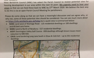 Open Parish Council Meeting – Monday 9th March 2020, 7.30pm at the Village Hall