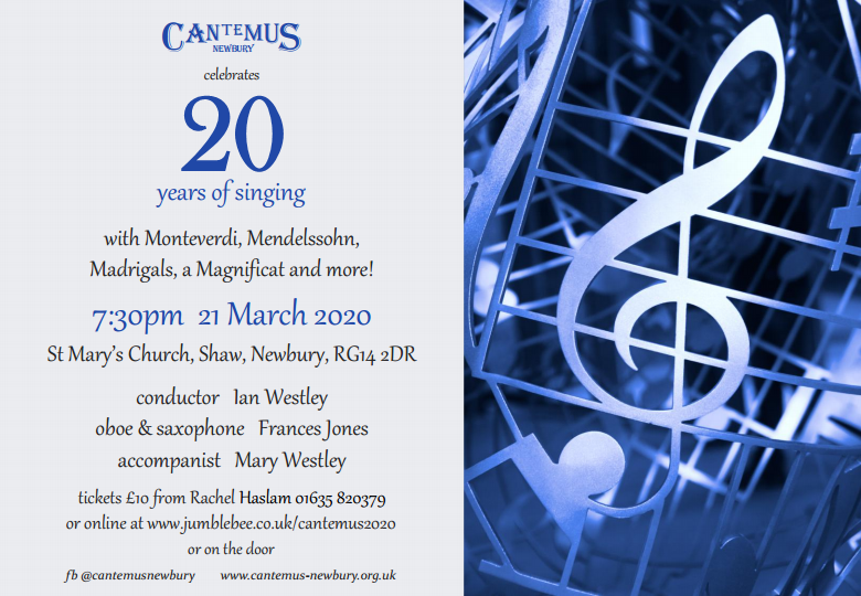 Concert St. Mary's Church, Shaw  21st March 2020