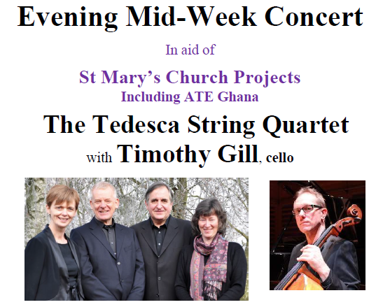 Concert at St Mary's on Wednesday 11th August