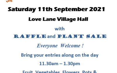 Village Garden Show – Saturday 11th September 2021