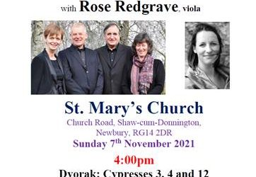 Concert at St Mary's on Sunday 7th November at 4pm